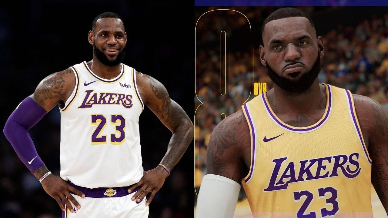 LeBron James and Anthony Davis' NBA 2k21 ratings revealed