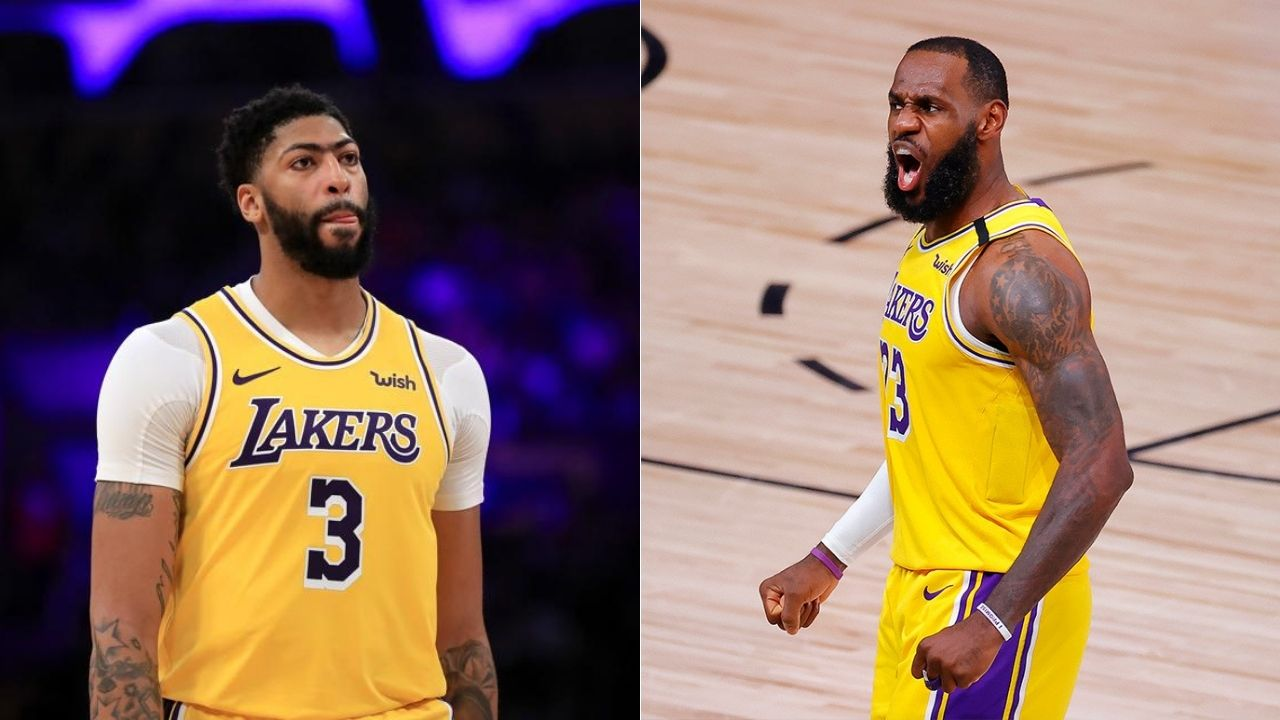 Anthony Davis calls out LeBron James in practice