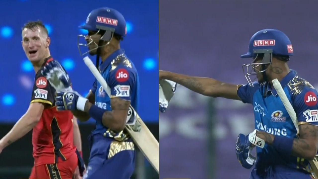 Hardik Pandya fight: Watch Pandya and Chris Morris involved in animated argument in MI vs RCB IPL 2020 match