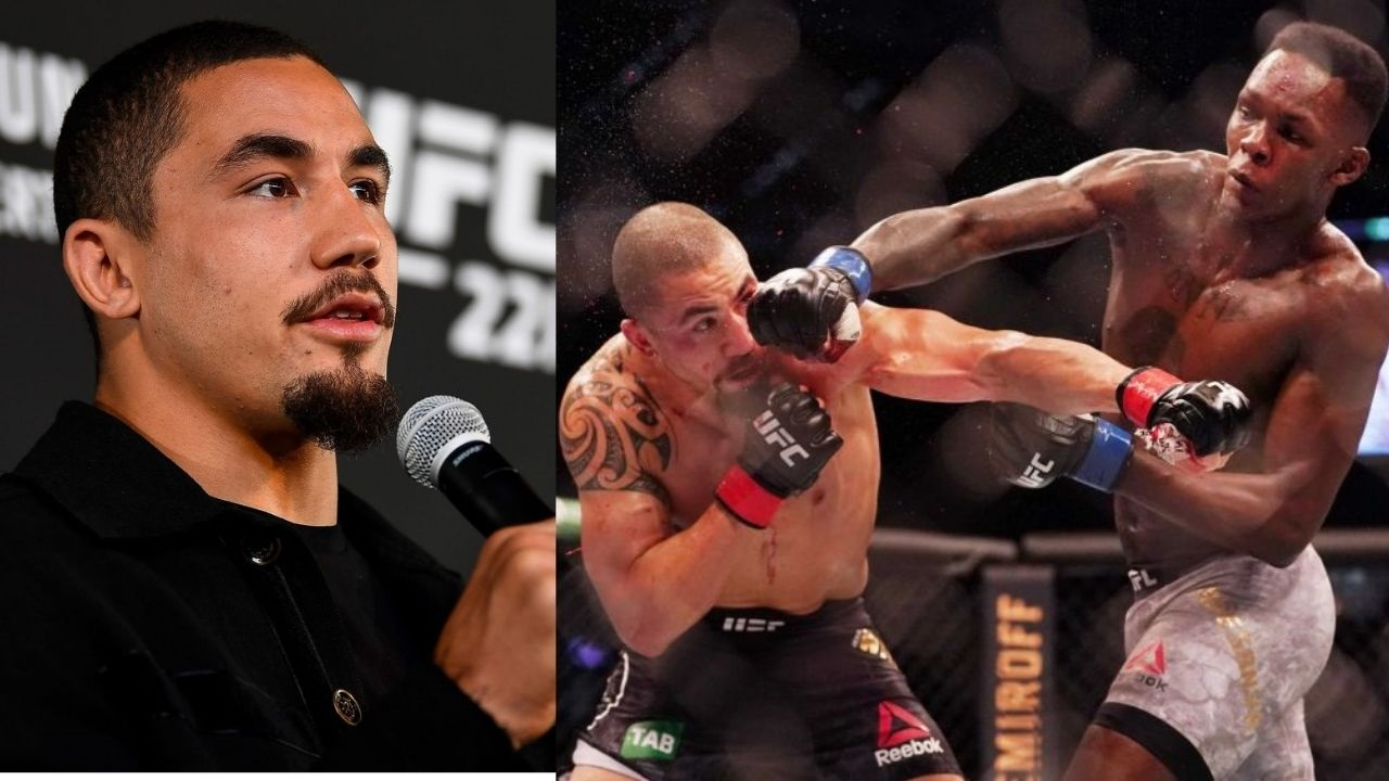 """it's one of the best I've ever seen""- Robert Whittaker Lauds Israel Adesanya's Striking Prowess"