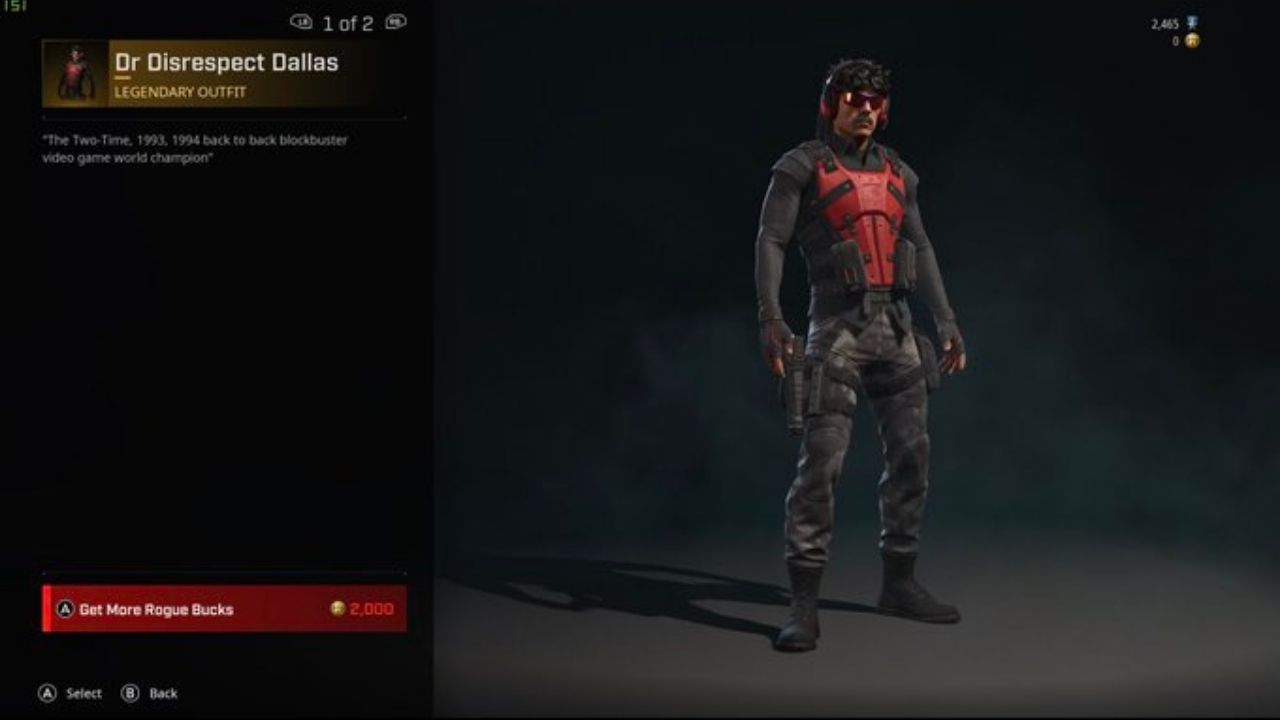 Dr Disrespect & Rogue Company: Rogue Company introduces a new character skin taking after Dr Disrespect