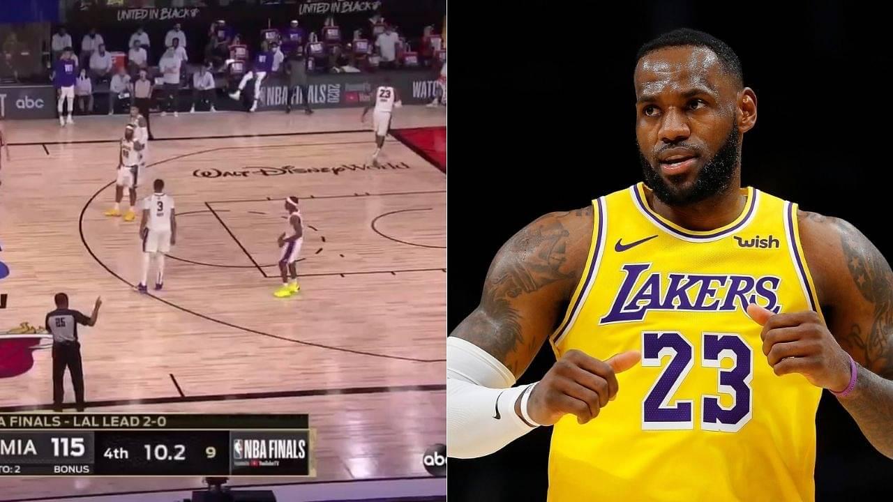 LeBron James walks off court vs Heat