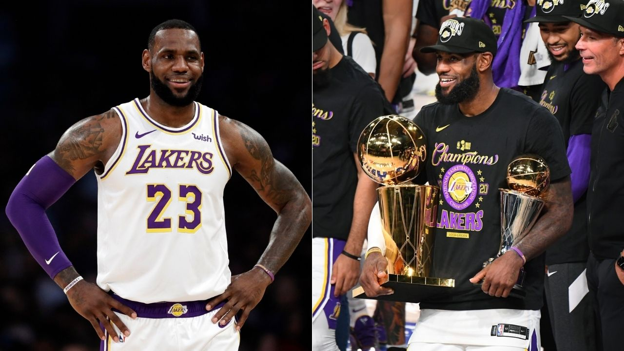 LeBron James talks to the Larry O'Brien trophy: You cheated on me for last 4 years