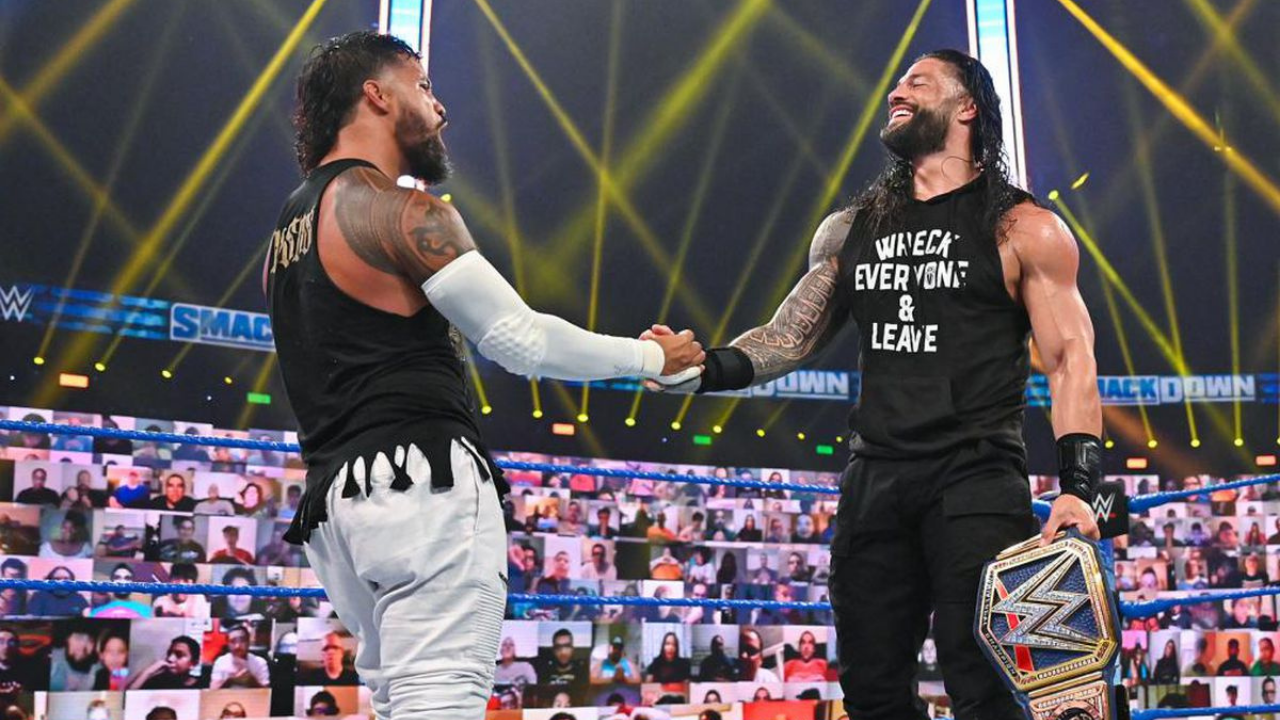 ey Uso credits Vince McMahon for the storyline with cousin Roman Reigns