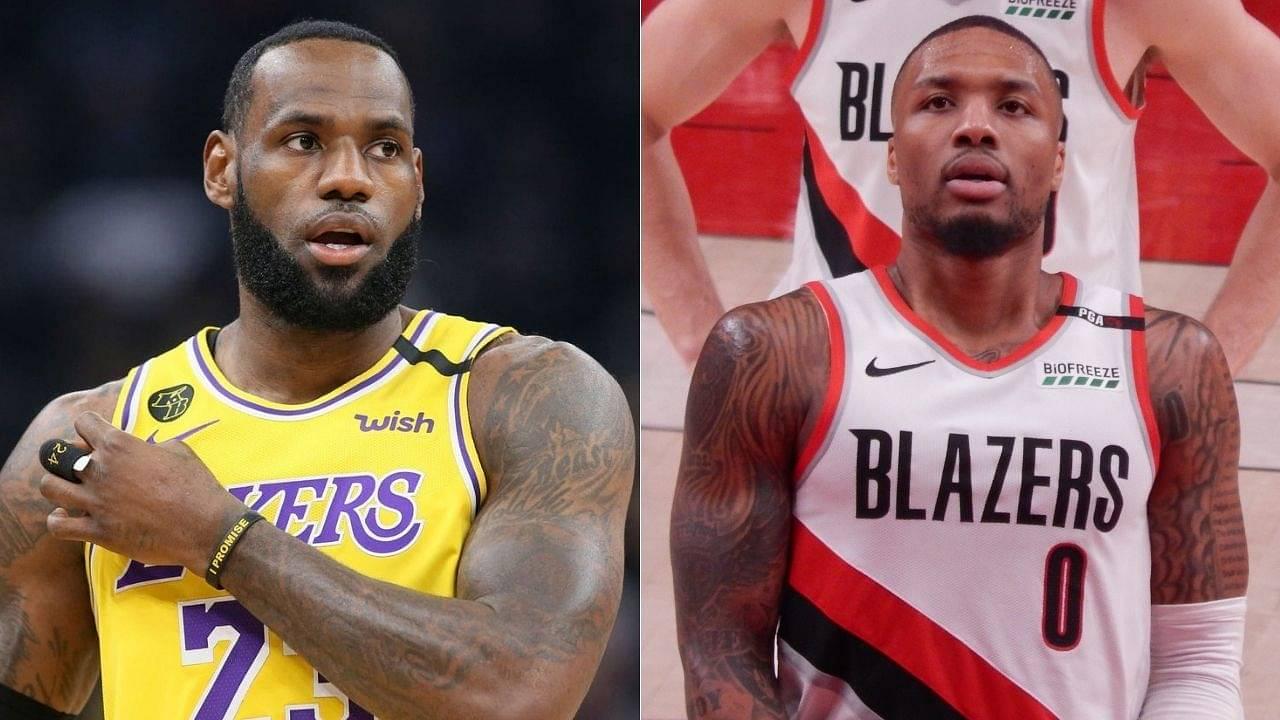 Damian Lillard mocks Lakers fan with 'LeBron James' statement