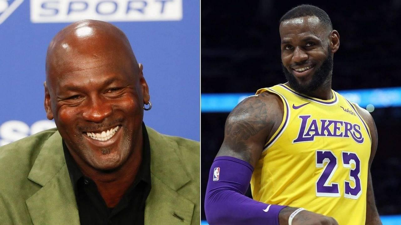 Michael Jordan chuckling at LeBron James: Skip Bayless