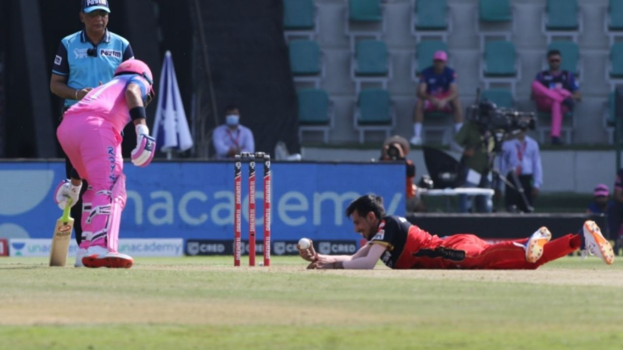 Sanju Samson dismissal vs RCB: Watch Yuzvendra Chahal produces fantastic caught and bowled to dismiss Samson