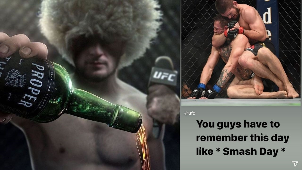 """Khabib Nurmagomedov Relives the """"Smash Day"""" Posts Video Of The Iconic Showdown Against Conor McGregor"""