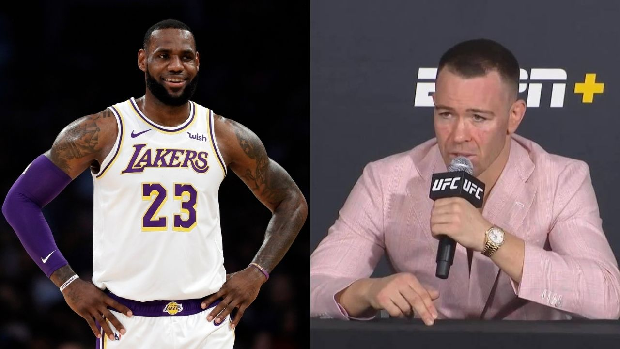 Colby Covington mocks Lakers star in 4th title congratulatory message