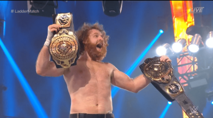 """""""The 3-way ladder match might be my favorite match I've had in 3-4 years"""" - Sami Zayn on his Intercontinental title win"""