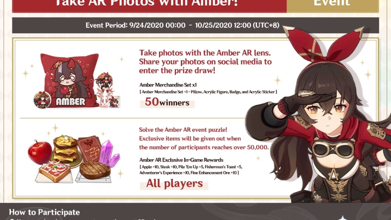 Genshin Impact Amber Puzzle: Win cool Prizes, use this simple guide to click Amber photos! Only a week left!