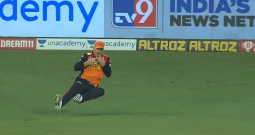 David Warner catch vs Rajasthan Royals: SRH captain grabs brilliant juggling catch to dismiss Riyan Parag in IPL 2020