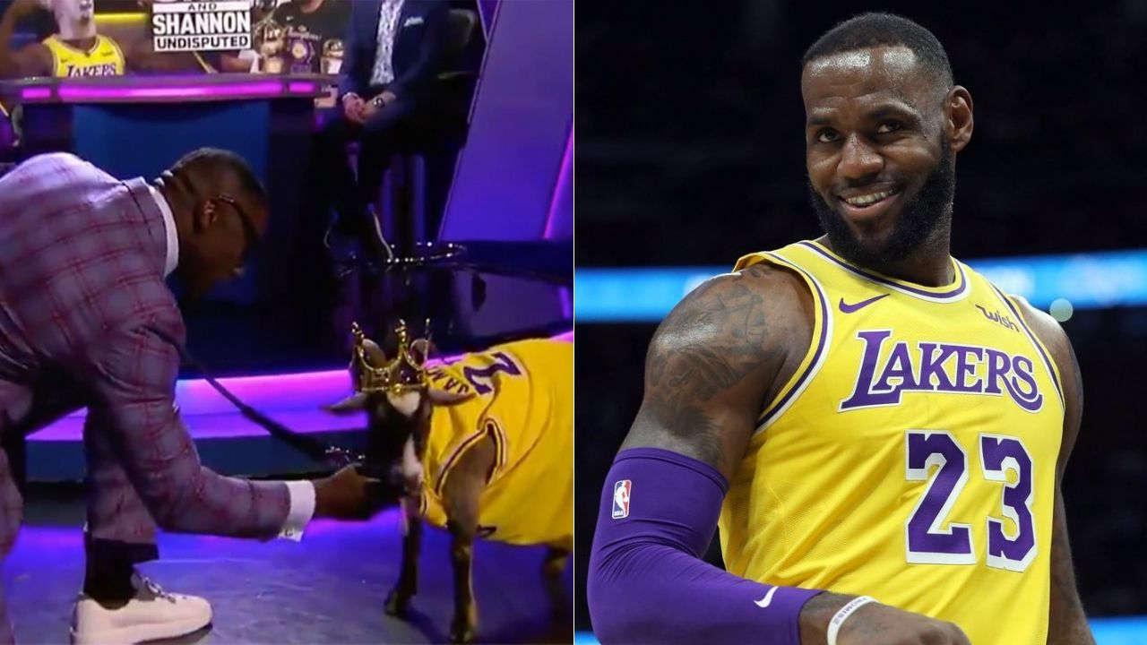 Shannon Sharpe brings in live goat with LeBron James' Lakers jersey on 'Undisputed'