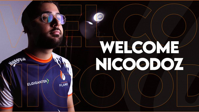 Copenhagen Flames have announced the signing of AWPer Nicoodoz from Singularity.