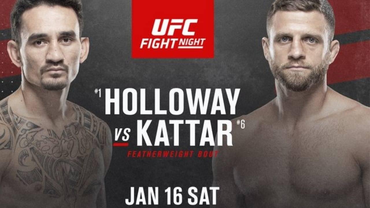 UFC News: Max Holloway Vs. Calvin Kattar Set To Headline January 16 Fight Night Event