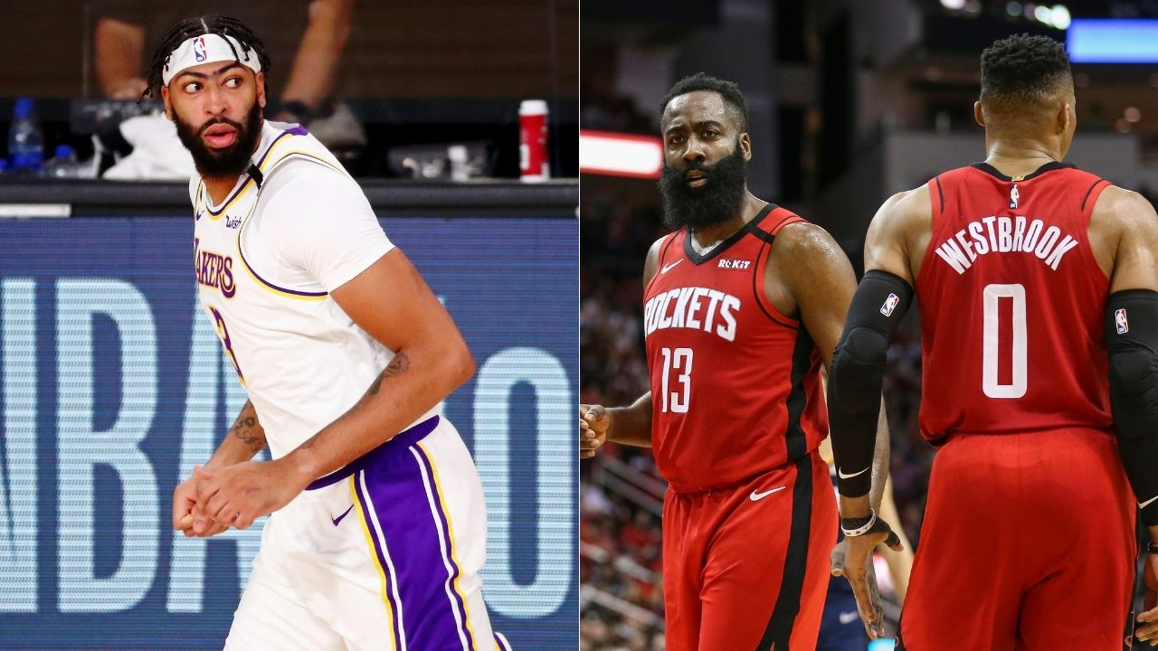 Lakers' Anthony Davis on Rockets' James Harden and Westbrook requesting trades