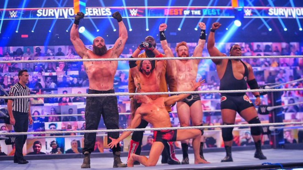 RAW Men's Survivor Series team clean sweep the SmackDown Men's team