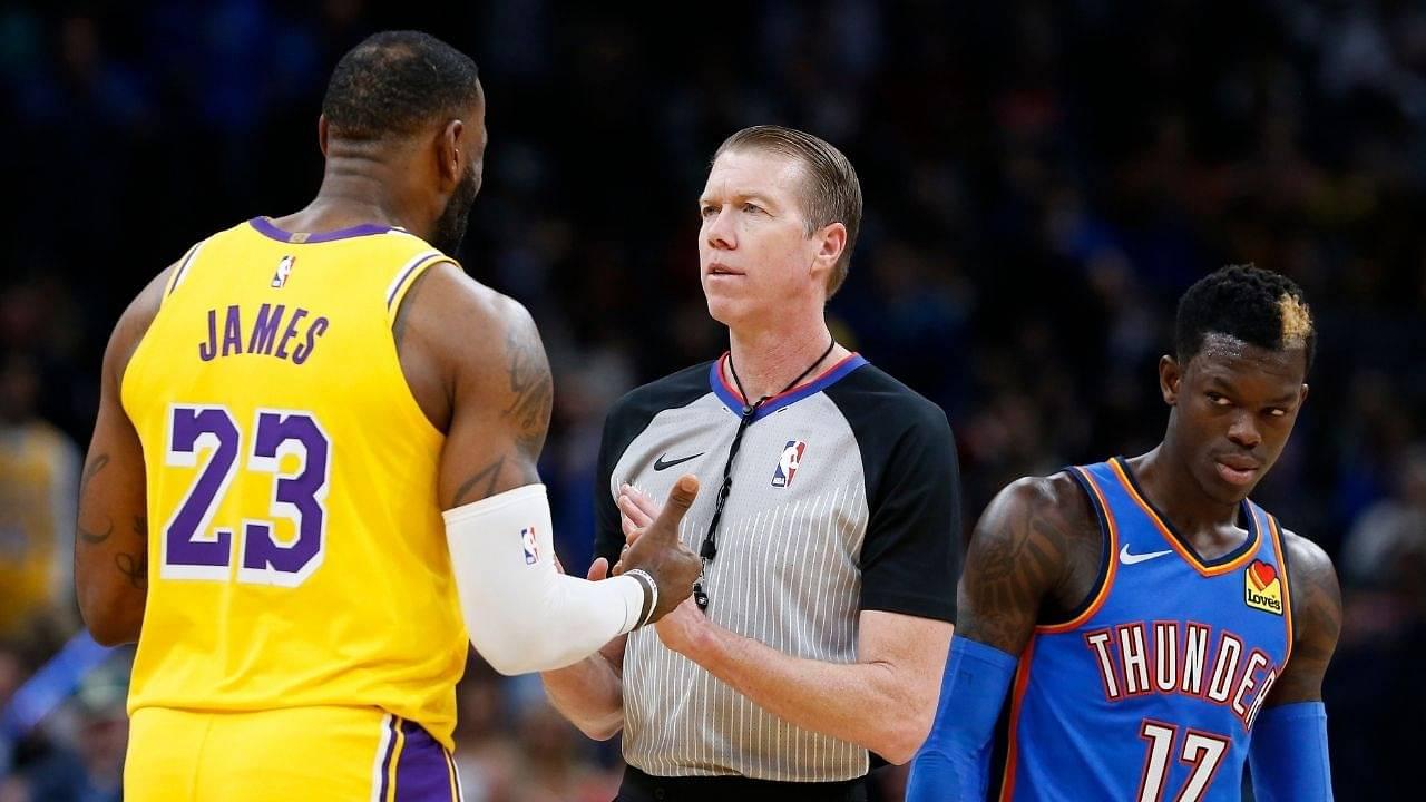 LeBron James physically tampered with Dennis Schroder last season