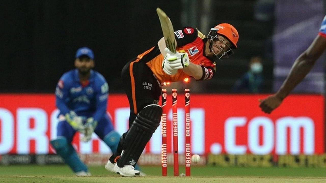 David Warner dismissal vs Delhi Capitals: Watch Kagiso Rabada castles SRH captain in IPL 2020 Qualifier 2