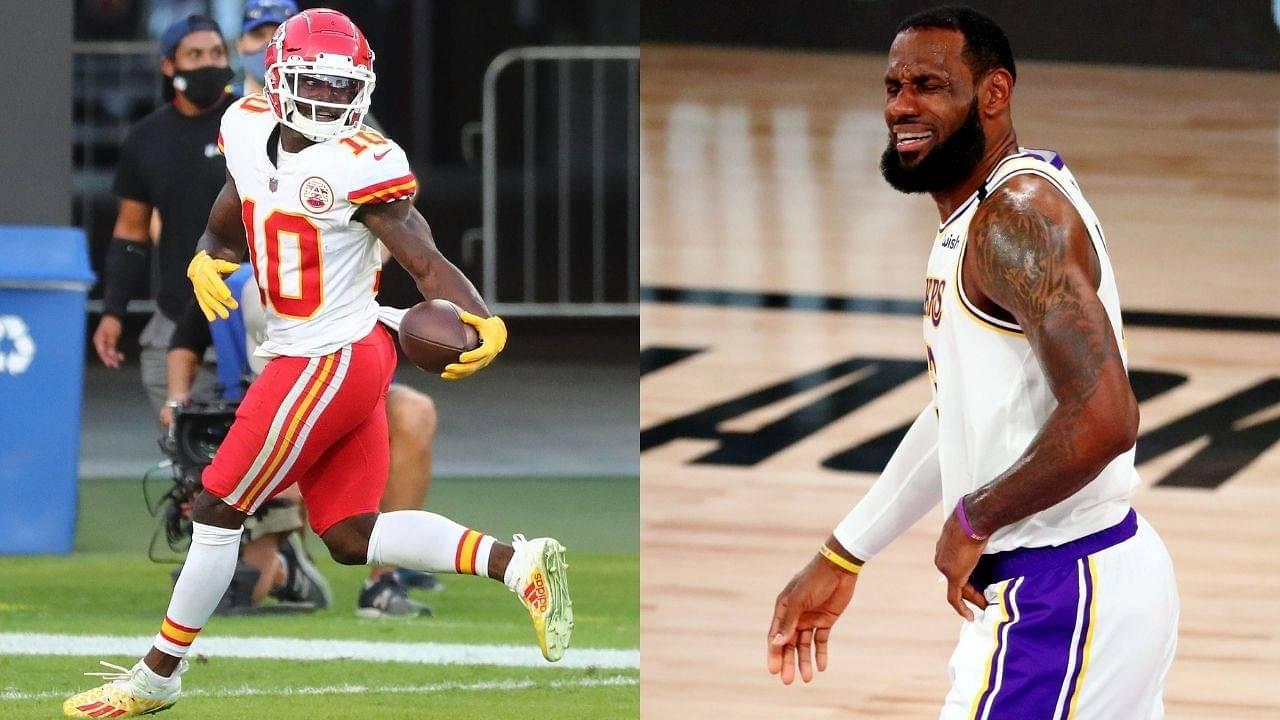 """My GOODNESS CHEETAH"": LeBron James Reacts to Tyreek Hill's Performance vs Bucs"