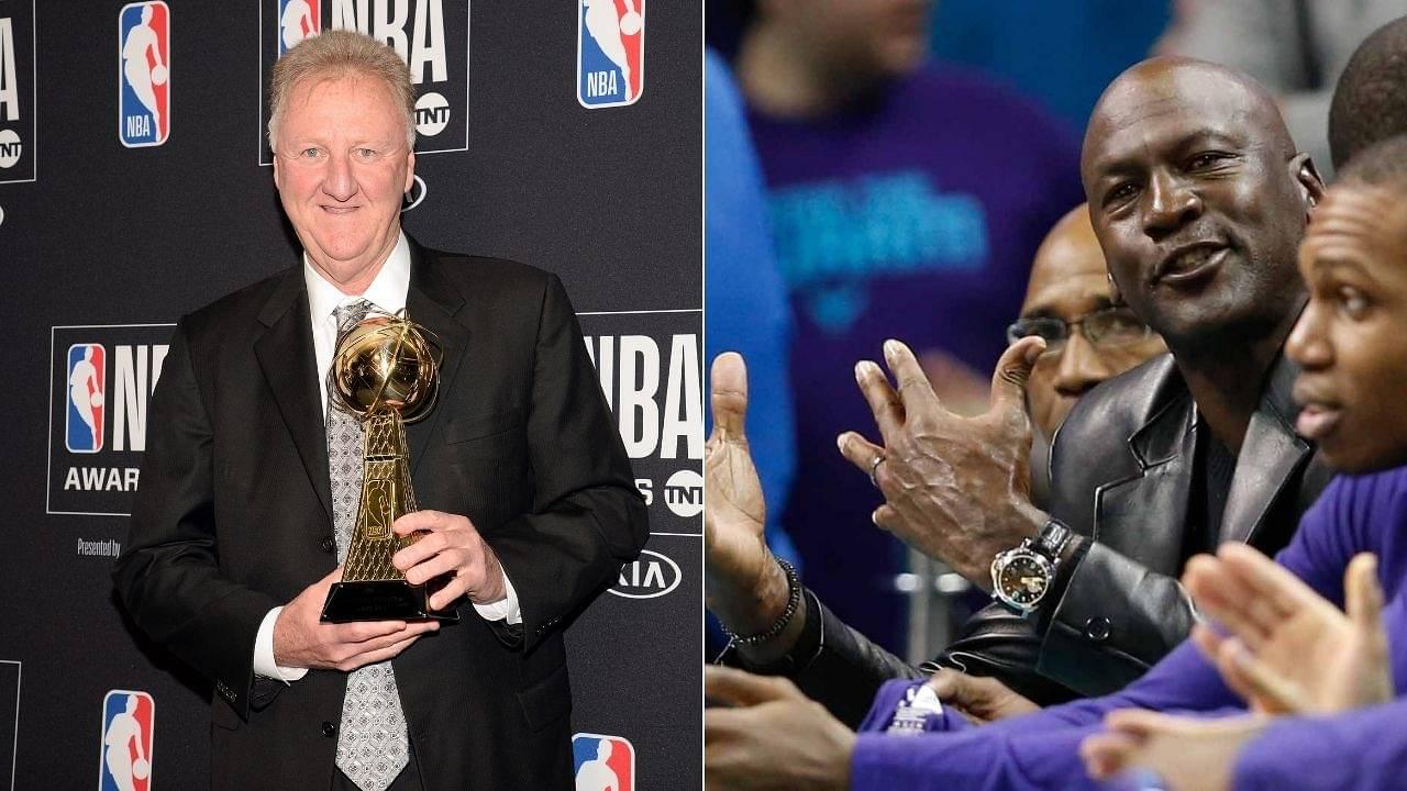 'I think it's God disguised as Michael Jordan': Celtics legend Larry Bird's famous compliment for Bulls legend in 1986