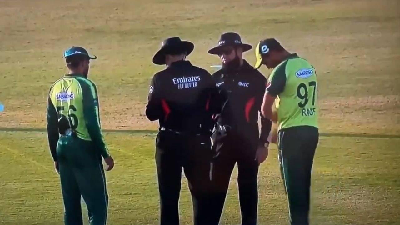 Wahab Riaz: Watch umpires wipe ball after Pakistani bowler mistakenly applies saliva in Rawalpindi T20I