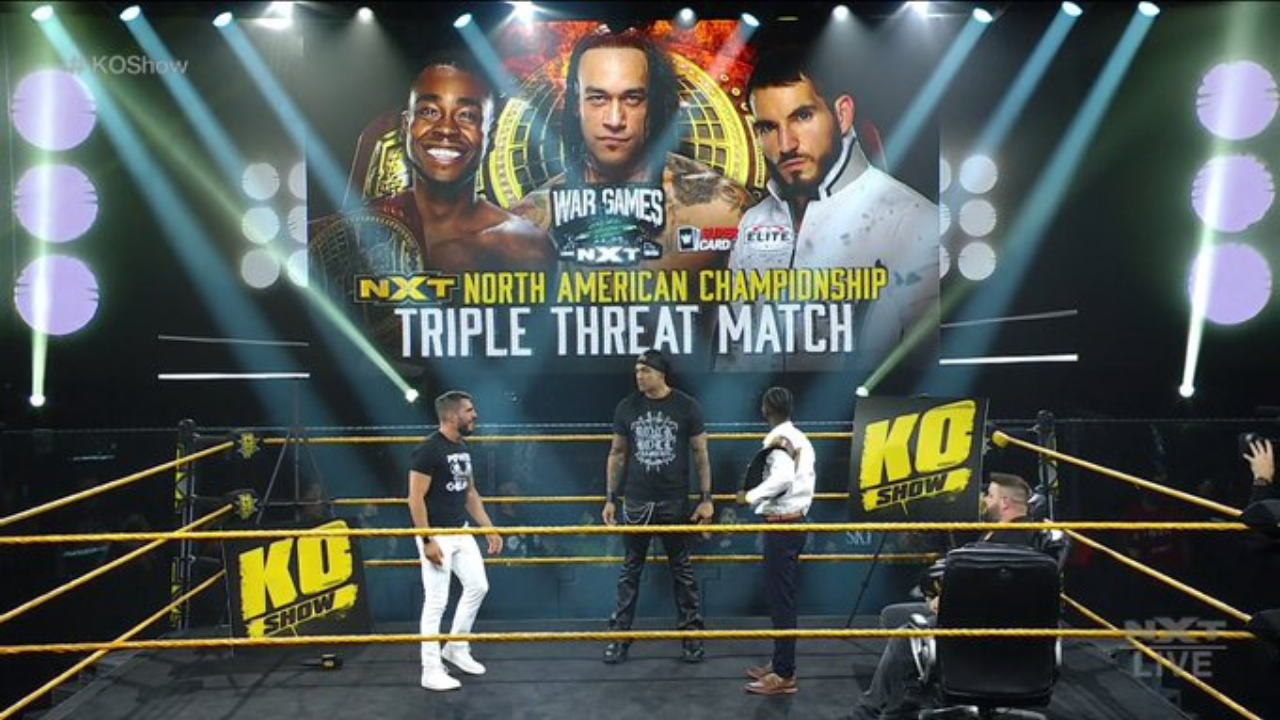 Triple Threat match for NXT North American Championship at 'TakeOver WarGames' announced