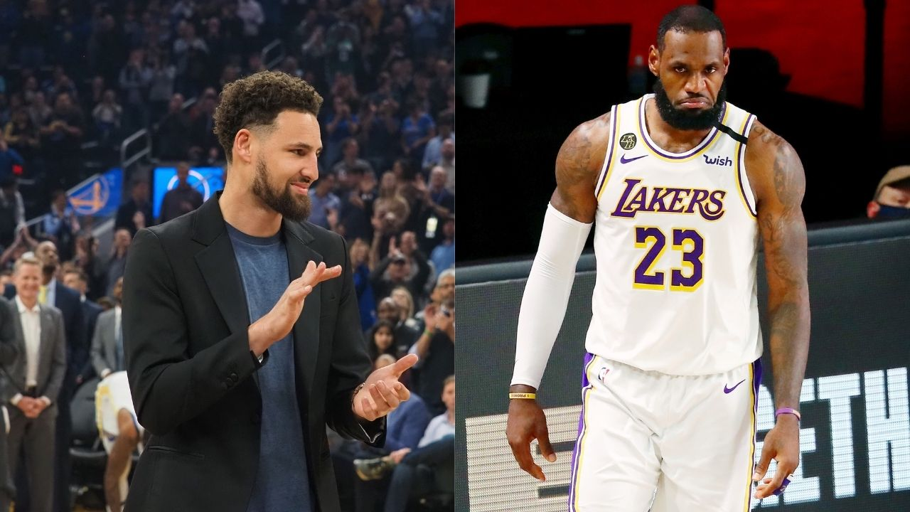 Lakers' LeBron James sends good wishes for speedy recovery from injury to Warriors star Klay Thompson