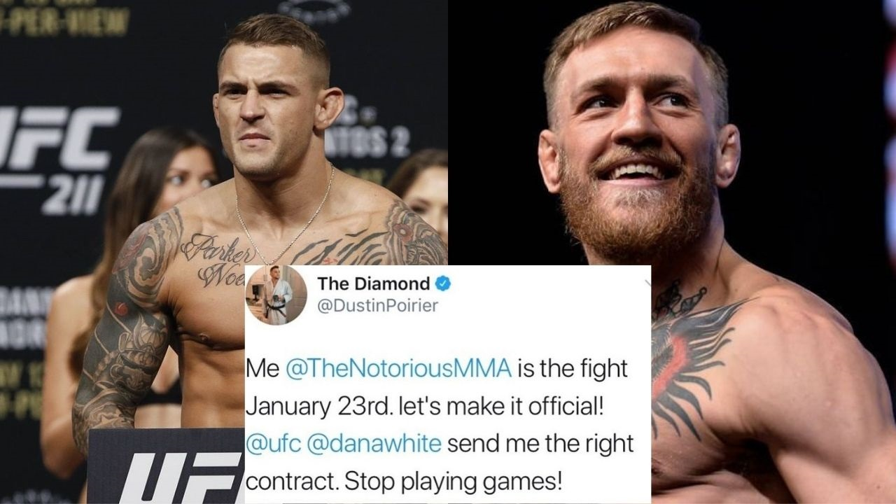 Dustin Poirier Indicates Fight With Conor McGregor isn't Official In a Deleted Tweet