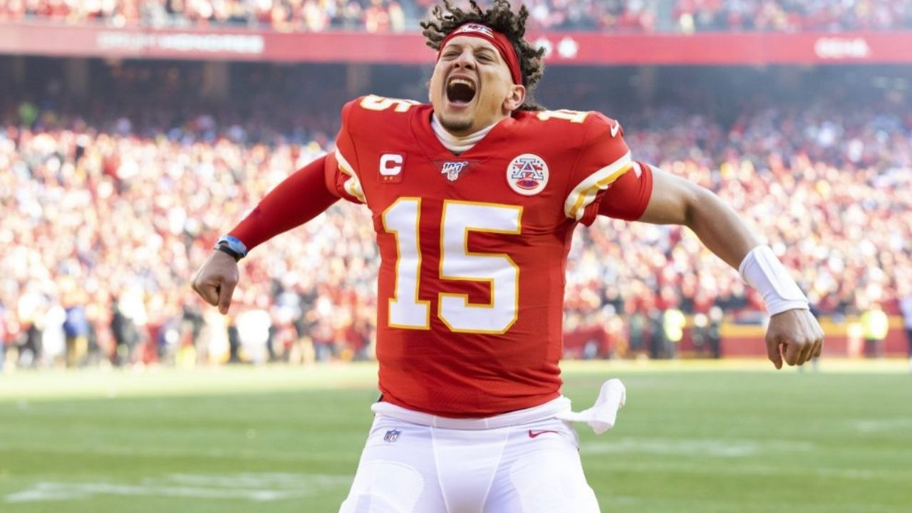 Patrick Mahomes ecstatic after blockbuster OT Orlando Brown Jr. trade from the Ravens to the Chiefs.