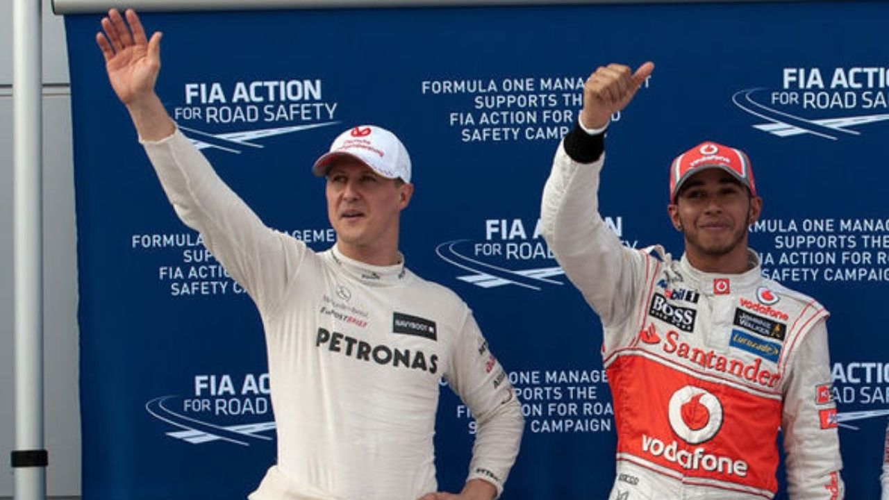 """""""I was brought in ultimately to replace Michael""""- Lewis Hamilton on inheriting Michael Schumacher's legacy"""