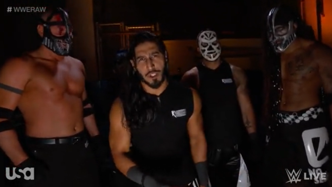 Mustafa Ali has an interesting reason why Retribution members have weird names and masks