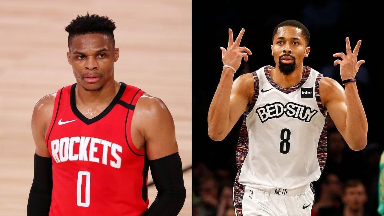 Spencer Dinwiddie roasts Rockets for Russell Westbrook's Twitter birthday wish