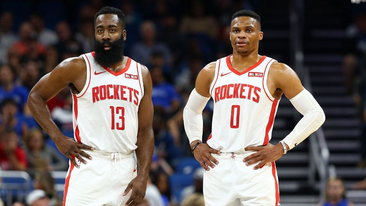 James Harden and Russell Westbrook not happy with Rockets