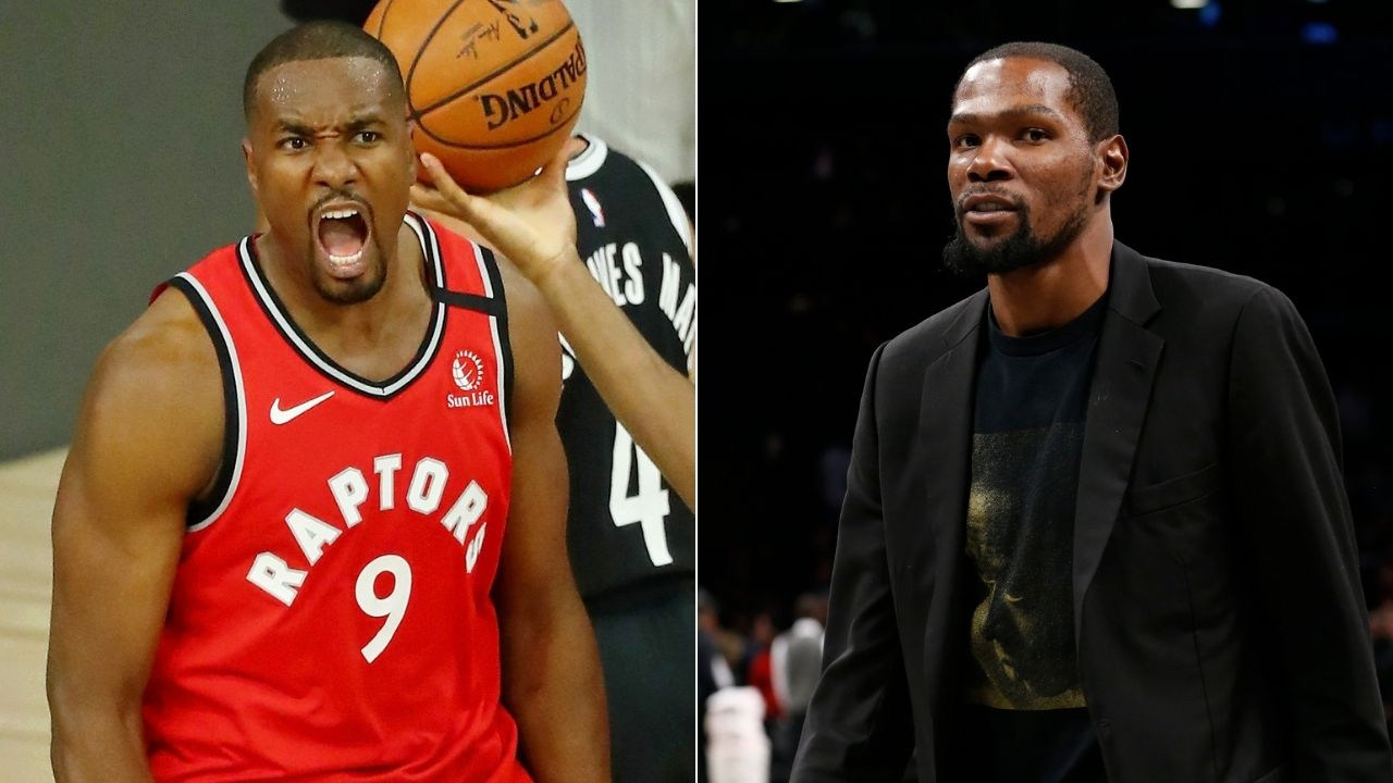 Kevin Durant is recruiting Serge Ibaka to the Nets