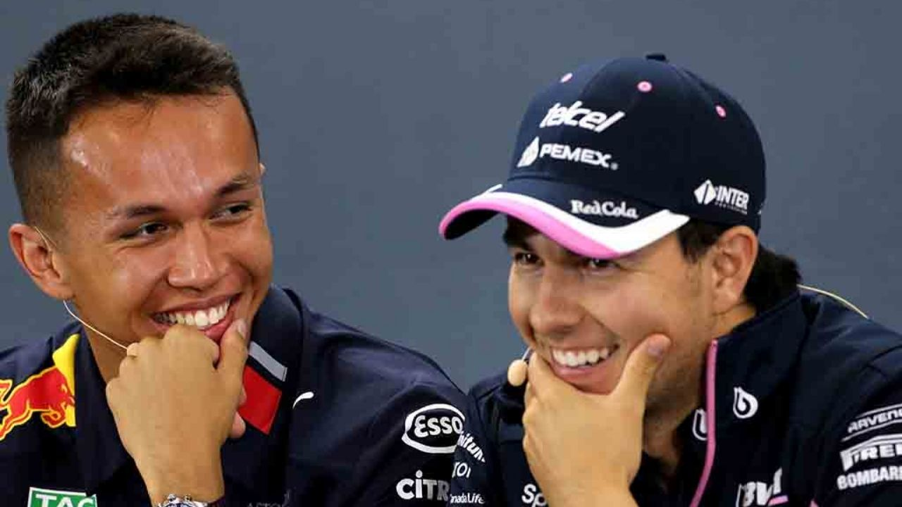 """Don't give up""- Sergio Perez consoles Alex Albon after Red Bull snub"