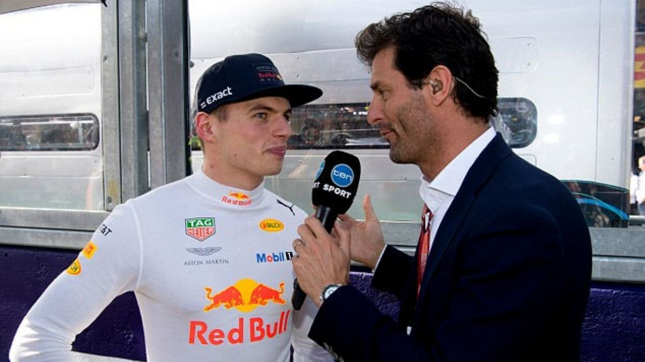 """""""Is he already Lewis on Sunday? No""""- Mark Webber on Max Verstappen"""