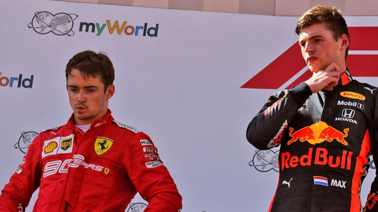 """""""I don't care what he says""""- Max Verstappen on Charles Leclerc"""