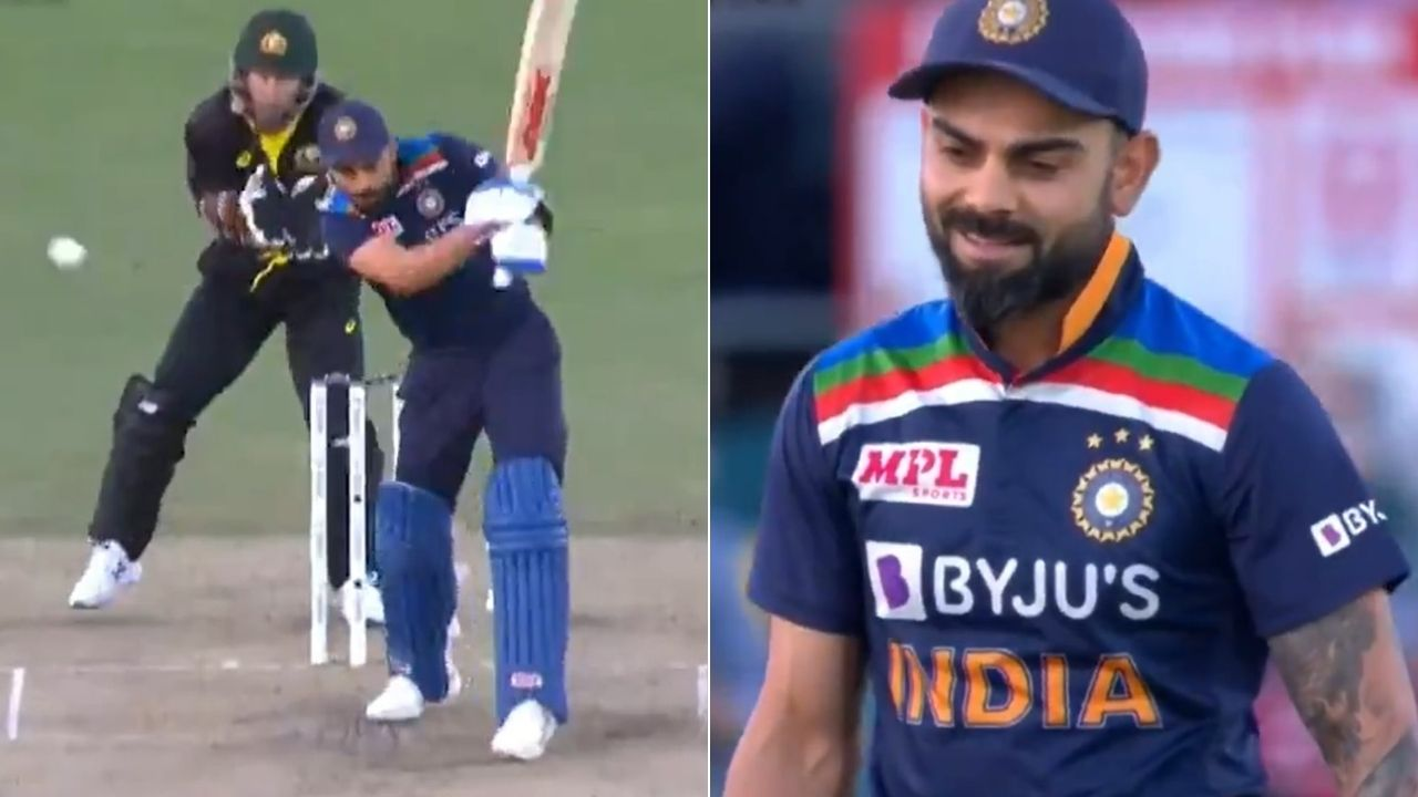 Virat Kohli dismissal: Indian captain left astonished after getting out to Mitchell Swepson in Canberra T20I