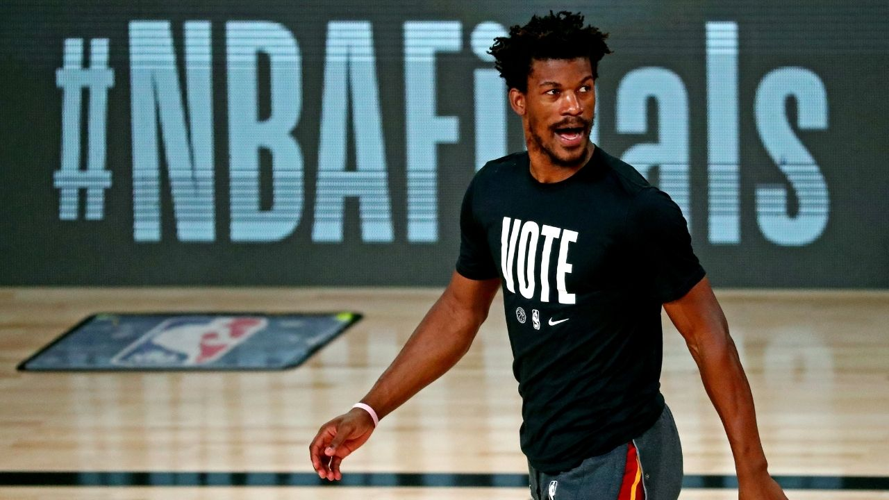 'Nobody is picking us anyway': Jimmy Butler talks down hype for Heat, refuses to get drawn in comparisons to Nets stars