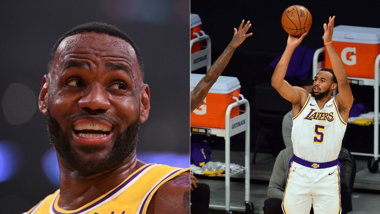 'Stop it, stop it': LeBron James threw his mask in disbelief as Talen Horton Tucker drained a 3 to finish with 33 points in Lakers win