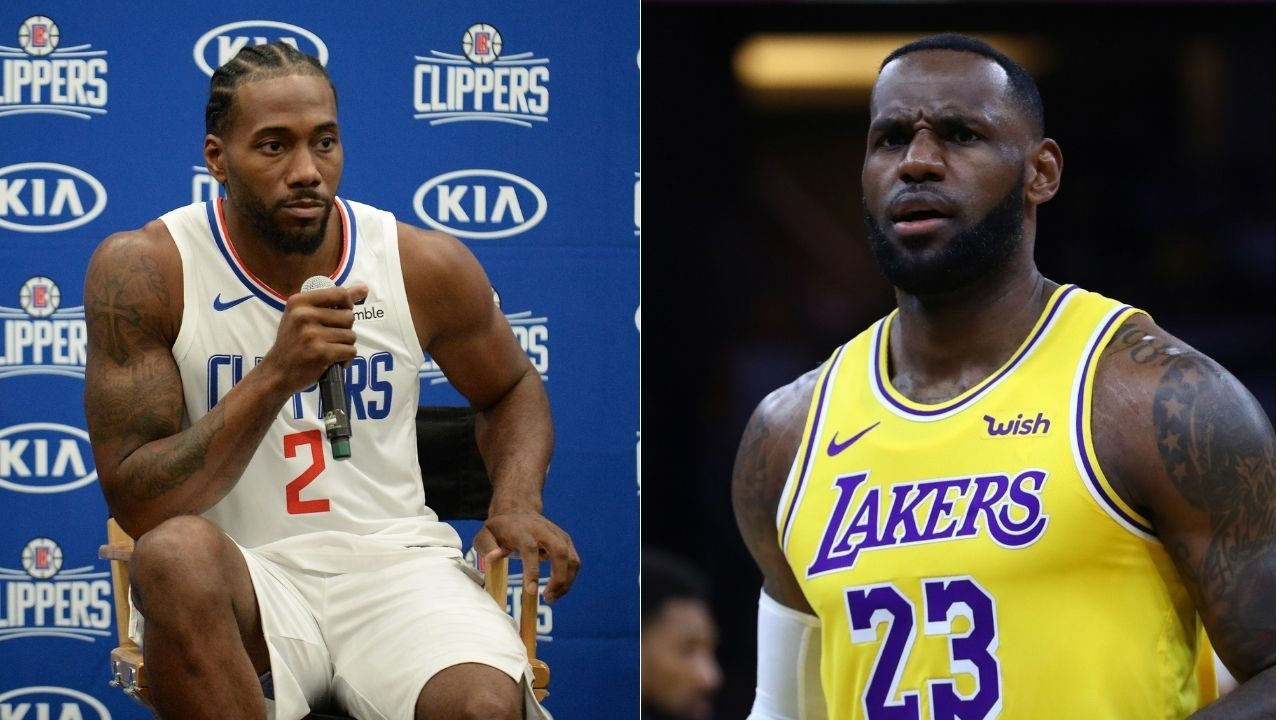 """""""What are LeBron James and Kawhi Leonard talking about?"""": Lakers star seen having a back and forth with Clippers star mid-game"""