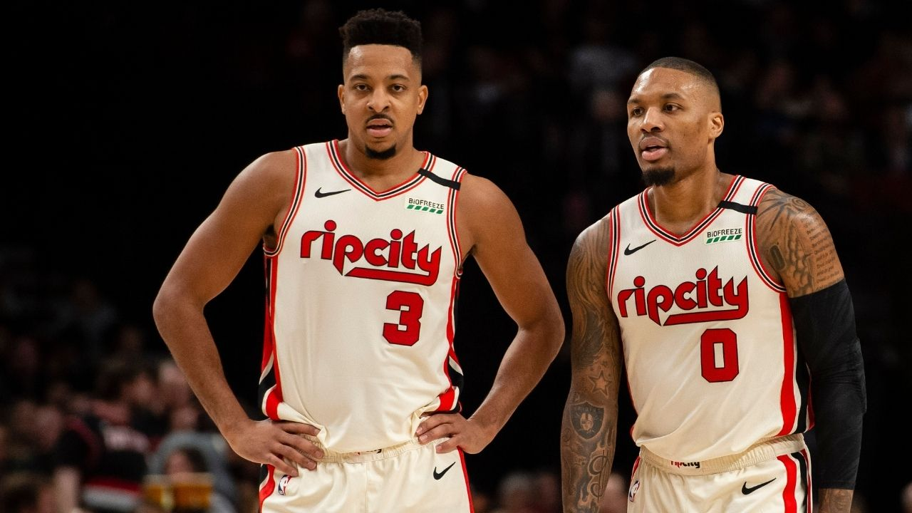 'Wanted you to see this, Dame': CJ McCollum and Damian Lillard poke fun at ESPN for ruling Portland out of the playoffs again