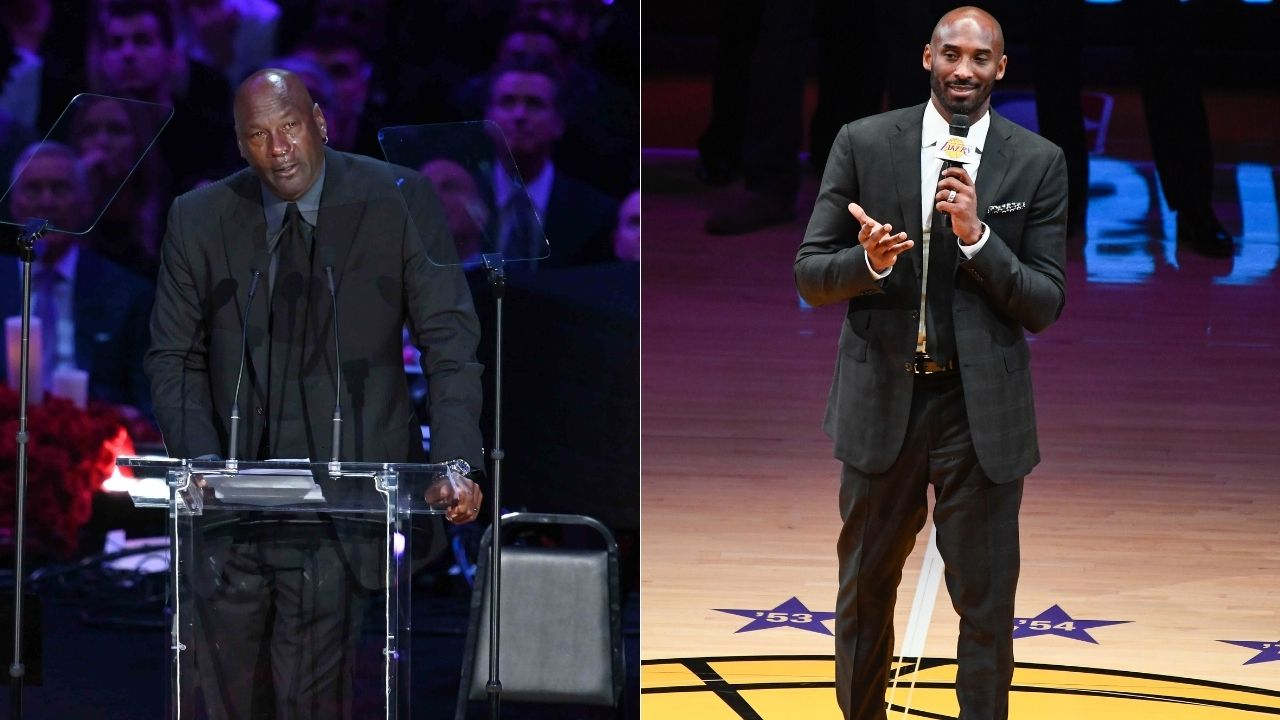 """""""You should feel the defense with your legs"""": When Michael Jordan gave fledgling Lakers star Kobe Bryant keys to his success at fadeaway jumpers"""