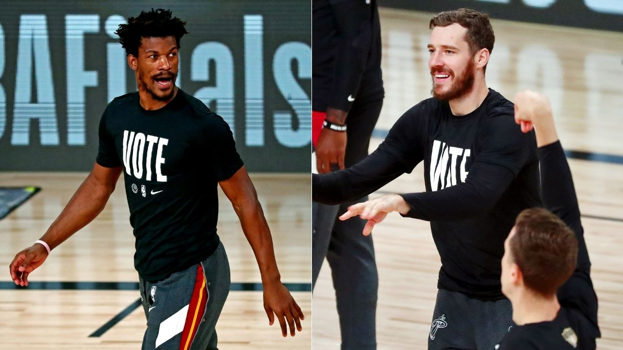 """""""I'm going to hunt you down and beat you up"""": Jimmy Butler hilariously threatened Goran Dragic into re-signing with the Miami Heat"""