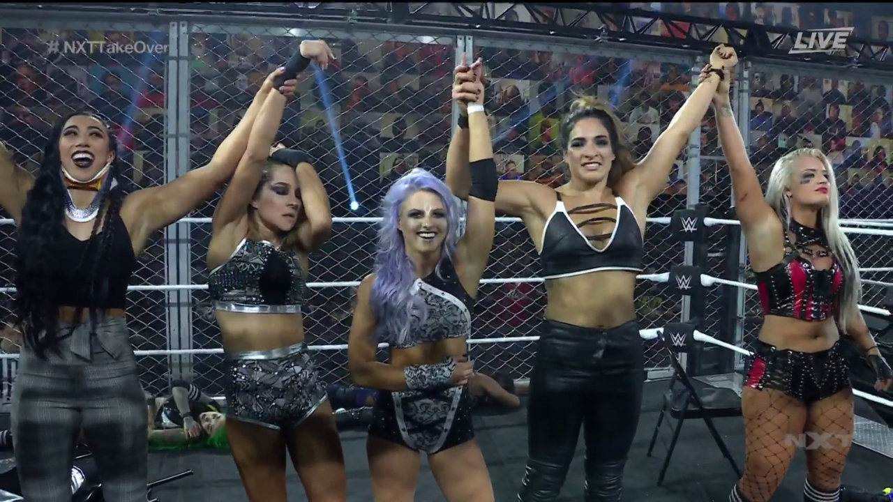 Team Candice prevails over Team Blackheart in brutal WarGames match