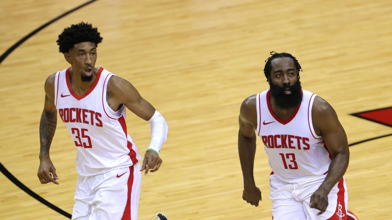 'Who needs James Harden?': Rockets announcer makes hysterical joke mocking The Beard after Christian Wood puts on dominant showing