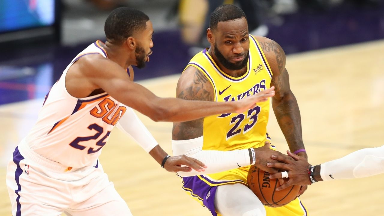 'If it was LeBron James, they'd have stopped the game': NBA Twitter criticizes Lakers star for dangerous play on Mikal Bridges