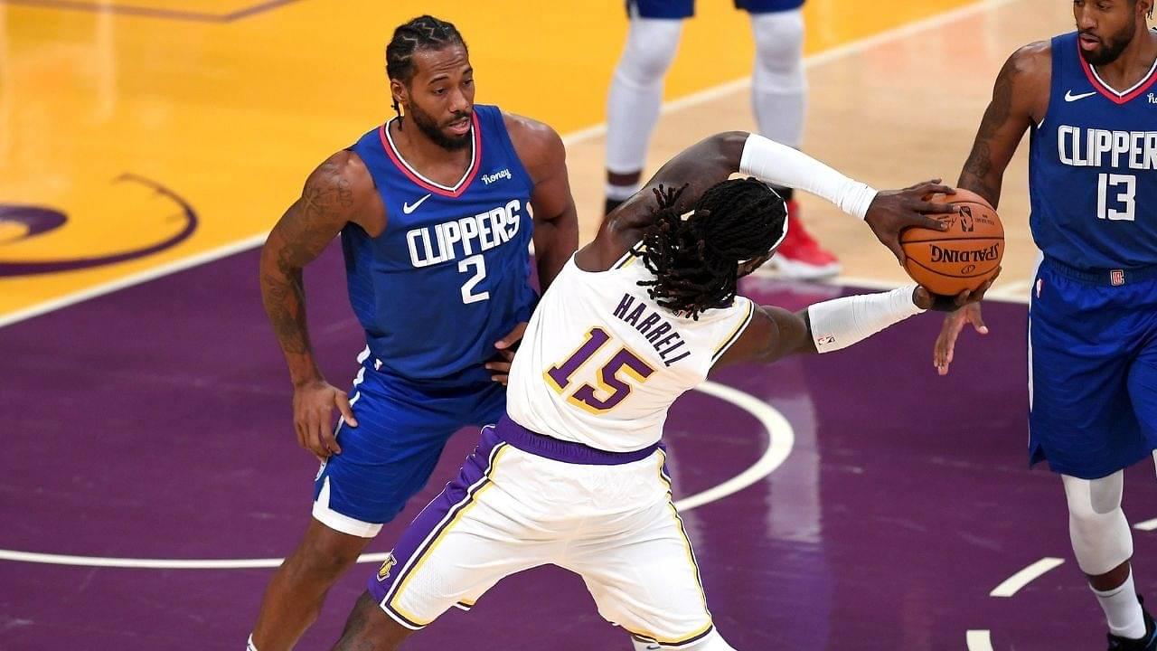 """Hell nah!"": Kawhi Leonard mocks former Clippers teammate Montrezl Harrell's shot attempt in preseason opener against Lakers"