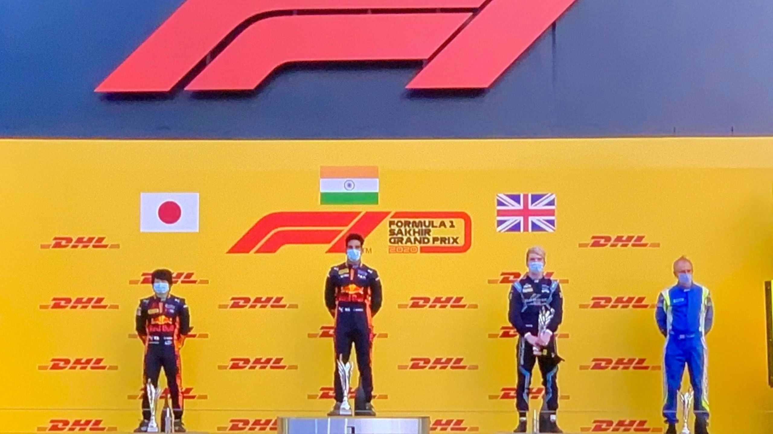 WATCH: Goosebumps as Indian National Anthem is played after Jehan Daruvala wins the F2 season finale at Bahrain